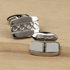 Salvatore Ferragamo Cufflinks Mens fashion designer dress shirt Silver color New