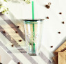 Starbucks Korea 2019 Aurora Glass Coldcup 473ml Hot Cold Coffee Cup + Gift