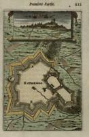 Estremos Portugal fort 1672 Mallet print miniature city view hand color
