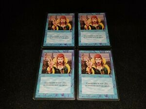 MTG 4x Revised blue uncommon MP French FBB Counterspell - ships w/ tracking