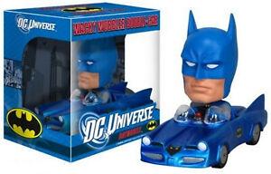 2010 FUNKO WACKY WOBBLER BOBBLE HEAD BATMAN BATMOBILE DC TOP XMAS Gift Idea MIB