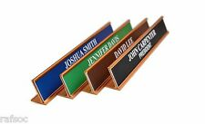 Personalized Office Desk Name Plate & Sign. 4 Plate Colors Block Custom Engraved