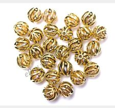 50pcs Tibetan Silver Antique gold round Charms spacer beads bead 8MM E3547