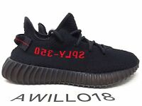 Adidas Yeezy Boost 350 V2 SPLY Bred UK 9.5 US 10 100% Authentic CP9652 Black Red