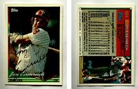 Jim Eisenreich Signed 1994 Topps #504 Card Philadelphia Phillies Auto Autograph
