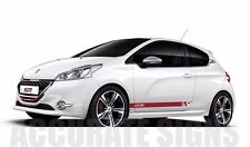 Peugeot 208 GRAPHICS KIT STICKERS Stripes voiture Autocollants Gti Xsi toute couleur