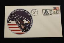 SPACE COVER 1985 SLOGAN CANCEL STS-51-I SHUTTLE DISCOVERY 1ST SAT REPAIR (47)