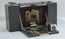 VINTAGE ANTIQUE KODAK N0.2 MODEL B FOLDING POCKET RED BELLOWS CAMERA 1907-15
