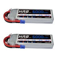 2pcs HRB 3S 11.1V 6000mAh RC Lipo Battery 50C 100C EC5 for RC Drone Airplane Car