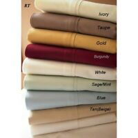 Australian 5 PCs Split Sheet Set Egyptian Cotton Solid Colors King Size