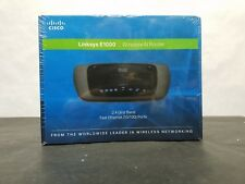 NEW Cisco-Linksys E1000 Wireless-N Router -FAST Ethernet Ports 10/100 2.4GHz NIB