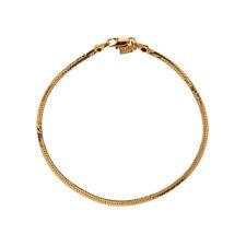 / Ankle Bracelet - Lifetime Warranty 18K Gold Plated Herringbone Chain Anklet