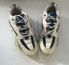 used walk run lace up white sneaker tennis athletic shoes natural sports brand