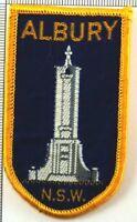 Albury NSW Australia Badge Patch Sew On Travel Souvenir Vintage