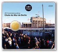 2 Euro 2019 im Original Blister MDP - 30 Jahre Berliner Mauerfall stempelglanz