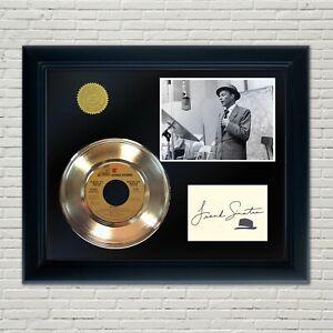 Frank Sinatra Framed 45 Gold Record Reproduction Signature Display 2