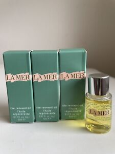3x La Mer The Renewal Oil 0.17 oz/5ml Each New In Box Sample Size Authentic