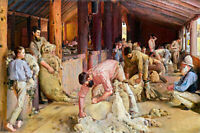 Canvas Prints.  Shearing The Rams - Tom Roberts - Framed & Ready to Hang