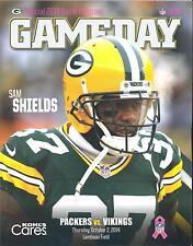 Minnesota Vikings Green Bay Packers 10/2/14 NFL Game Program...Sam Shields