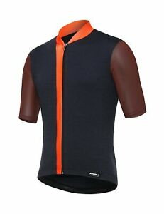 2019 Mens Origine Cycling Jersey - Orange/Navy - by Santini - Made in Italy