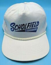 SCHOLFIELD HONDA vintage white adjustable snapback cap / hat - 100% cotton