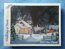 WALKING TO TOWN Fred Swan 1000 Piece Puzzle White Mountain NEW Sealed