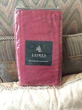 Ralph Lauren Red Sateen Pillowcases 280 TC Std