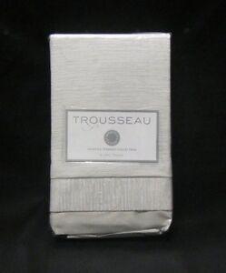 TROUSSEAU MARTHA STEWART COLLECTION Serenade Light Gray Textured Euro Sham $95