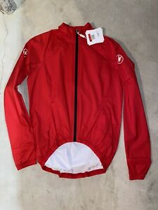 Castelli Cycling BRAND NEW Men's Emergency Rain Jacket Red Size Large
