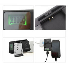 Universal US Plug LCD Indicator Battery Charger with USB Output Smart Auto-stop