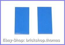 LEGO 2 x carrelage bleu (2 x 4) - 87079-Tile Tiles Blue-Neuf/New