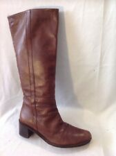 L.K.Bennett Brown Knee High Leather Boots Size 37