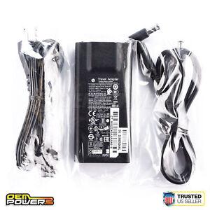 GENUINE HP Travel Adapter 65W + USB AC Power Charger EliteBook Folio 9480m 9470m