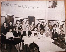 Cuba/Cuban 1950s Photograph: Black & White Women in a Restaurant - 8x10