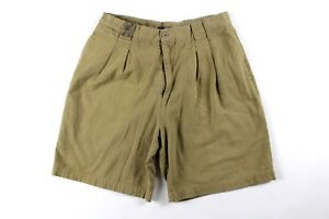 Vintage 90s Guess Mens Size 34 Country Club Golfing Golf Shorts Khaki Cotton