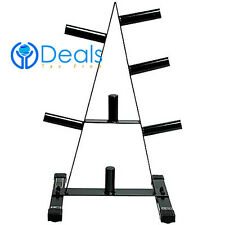 """Cap 2"""" Olympic 500 Lb Holder Storage A Frame Weight Plate Rack Stand Tree"""