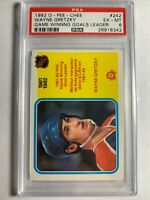 1982 O-Pee-Chee OPC Wayne Gretzky #242 PSA 6 NHL Card Game Winning Goals Leader