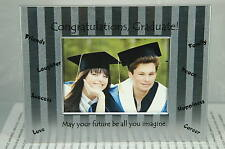 "Congratulations Graduate! Silver Picture Frame~New~3"" x 4.5""~Free Us Ship~"