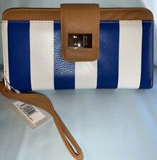 kenneth cole reaction clutch wallet Blue and white stripes