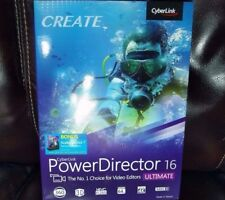 CyberLink PowerDirector 16 Ultimate w/Bonus CyberLink Audio Director 7 ✔NEW✔
