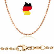 Kugelkette 585 Rosegold 45 cm echt Gold  Halskette 14 Karat Anhängerkette neu