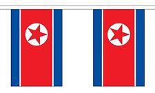 NORTH KOREA 3 METRE BUNTING 10 FLAGS flag 3M KOREAN