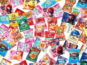 20 Pcs Mixed Fake Resin Food Crisps Lollypops Sweets Dolls House Craft DIY Kit