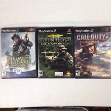 PS2 Playstation 2 Shooter Games Medal of Honor Frontline Call of Duty 2 Socom 3