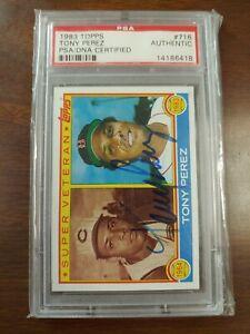 CC254 Tony Perez signed Phillies 1983 Topps 716 Baseball card PSA Authentic