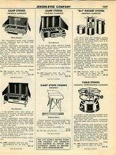 1951 ADVERT 3 PG Coleman GI Pocket Gas Gasoline Camp Stove Tantern Lamp Shade