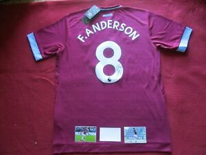 WEST HAM UNITED- HAMMERS FELIPE ANDERSON SIGNED 2018-19 SHIRT JERSEY-PHOTO PROOF