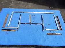 Seeburg M100C Program Glass Retainer Trim & Channels - inside & outside set