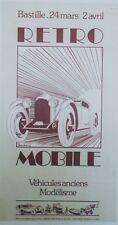 """""""EXPO RETRO MOBILE 1978"""" Affiche originale entoilée Offset A. MOITRIER 37x67cm"""