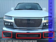 GTG 2004 - 2012 Chevy Colorado 3PC Polished Bumper Billet Grille Insert Kit